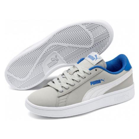 Puma SMASH V2 BUCK JR šedá - Chlapčenská obuv na voľný čas