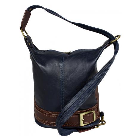 kožená kabelka cez rameno dámska Adele Blu
