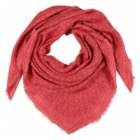 Calvin Klein Šál  koralová / karmínovo červená / pastelovo červená