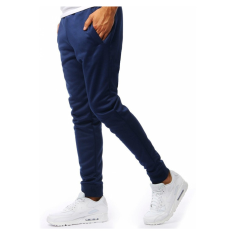 Men's sweatpants joggers navy blue UX2009 DStreet