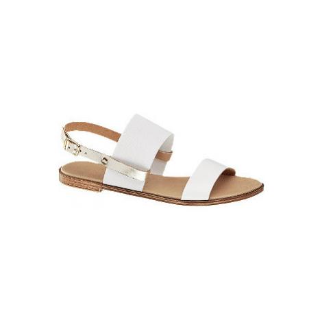 Bielo-zlaté sandále Claudia Ghizzani