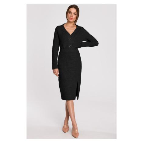 Stylove Woman's Skirt S270 Graphite