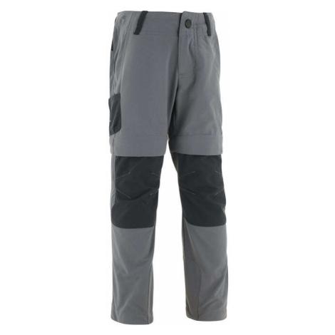 QUECHUA Detské turistické nohavice MH500 Kid upraviteľné pre vek 2 až 6 rokov sivé ŠEDÁ 96-102cm