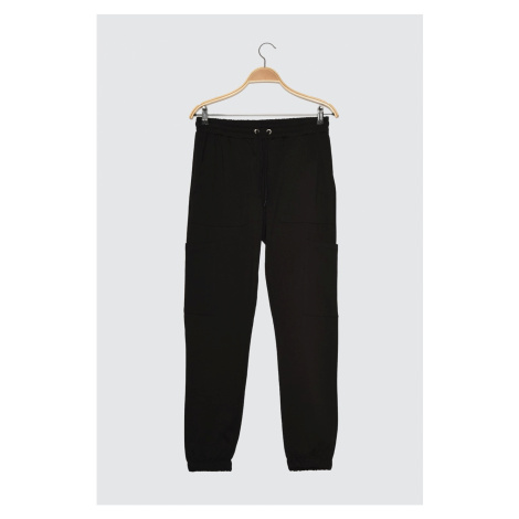 Trendyol Black Male Regular Fit Tracksuit Bottom