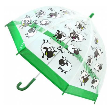Blooming Brollies Detský priehľadný palicový dáždnik Buggz Kids Stuff Sheep Bushom