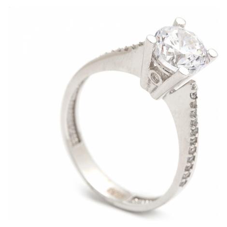 Zlatý zásnubný prsteň LEOKADIA