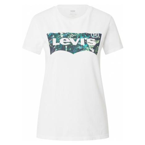 LEVI'S Tričko  biela / petrolejová / nefritová Levi´s