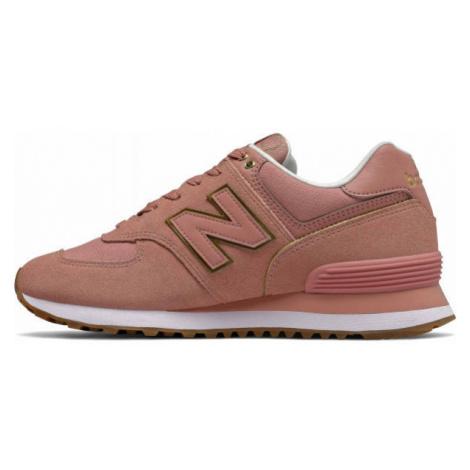 New Balance WL574SOB ružová - Dámska obuv na voľný čas