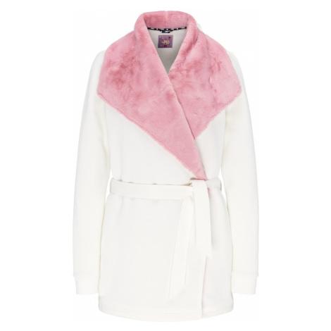 MYMO Tepláková bunda  biela / ružová