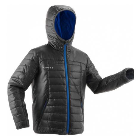 KIPSTA Bunda Fcoat 100 Junior čierna