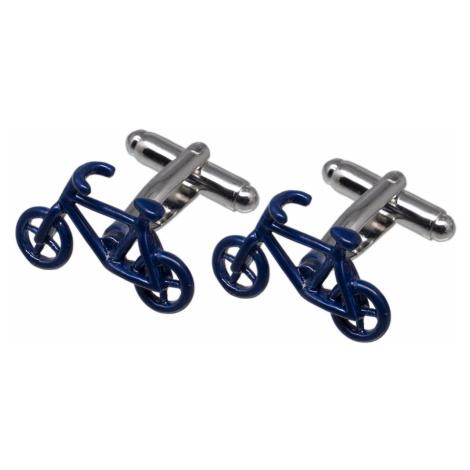 Pánske kovové manžetové gombíky Bike modré