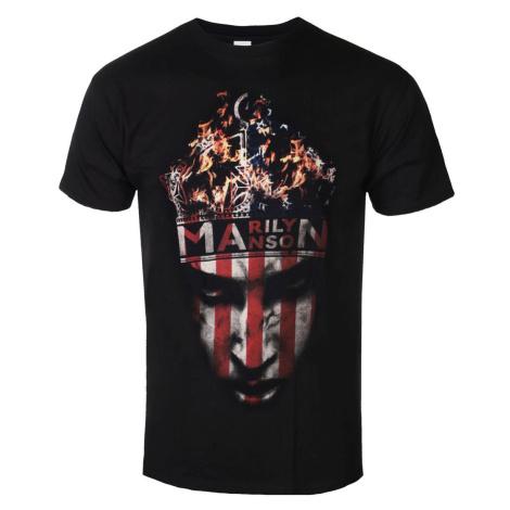 Tričko metal ROCK OFF Marilyn Manson Crown Čierna