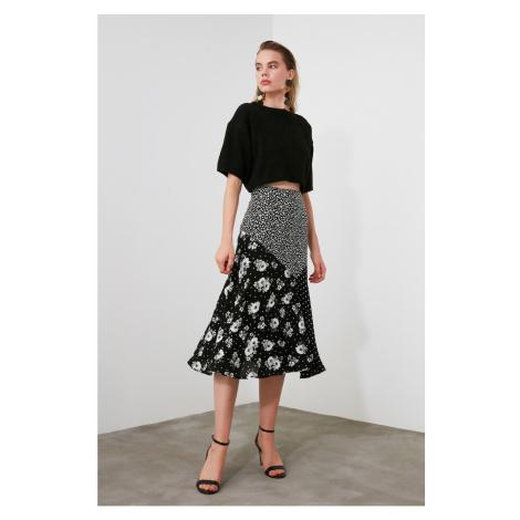 Trendyol Black Polka Dot Skirt