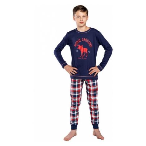 Chlapčenské pyžamo Oland tmavo modré Italian Fashion