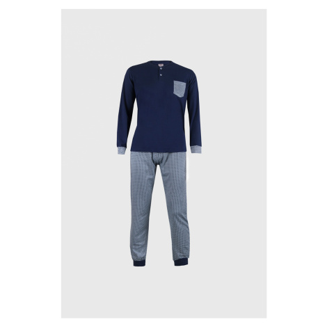 Modré pyžamo Casey modrá Cotonella