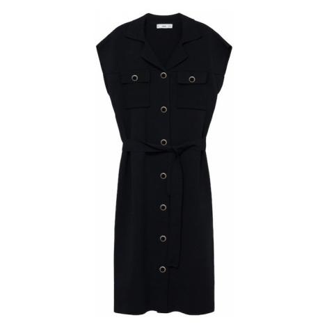 MANGO Košeľové šaty 'jane'  čierna