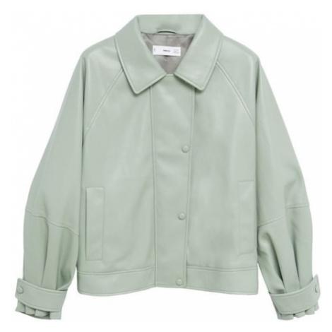 MANGO Prechodná bunda  neónovo zelená