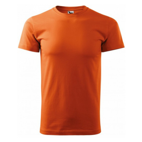 Pánske tričko jednoduché, oranžová