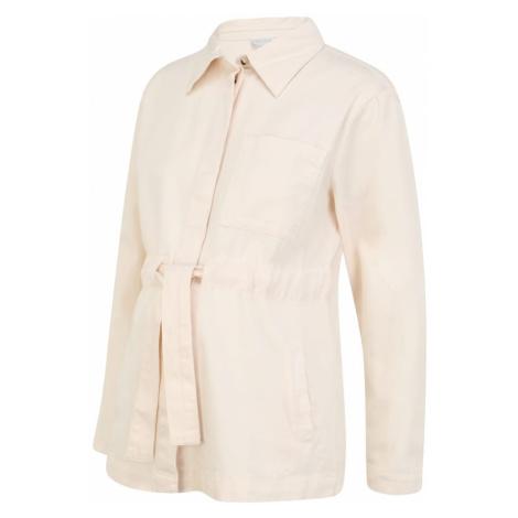 Pieces Maternity Prechodná bunda  biela / béžová