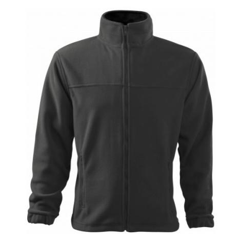 Pánska fleecová bunda, oceľovo sivá