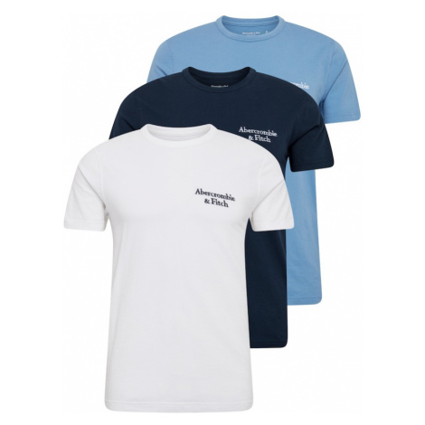 Abercrombie & Fitch Tričko 'SUMMER'  námornícka modrá / dymovo modrá / biela