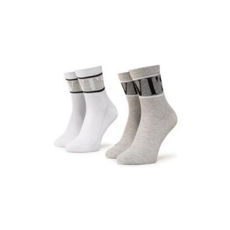 Levi's® Súprava 2 párov vysokých ponožiek unisex 37157-0329 Biela Levi´s