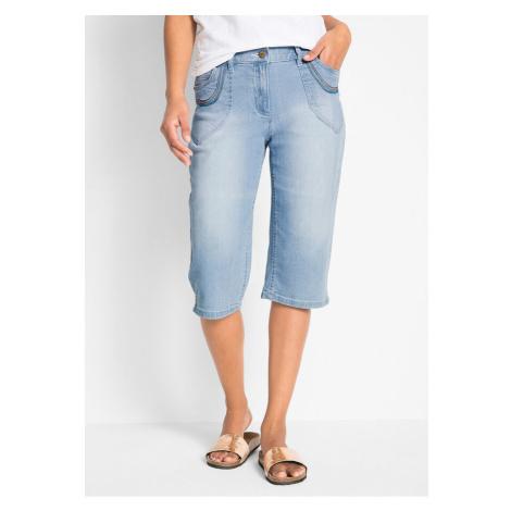 Strečové džínsy capri bonprix