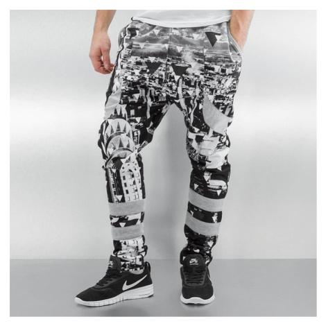 Just Rhyse Triangle Sweatpants Grey/Black - Veľkosť:XL