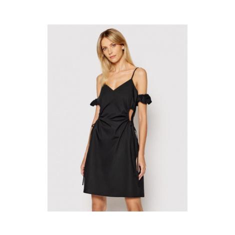 NA-KD Letné šaty Cut Out 1018-006813-0002-581 Čierna Regular Fit