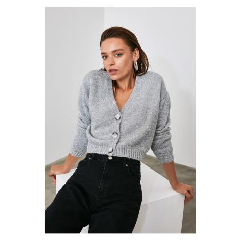 Trendyol Grey Sim Knitwear Cardigan