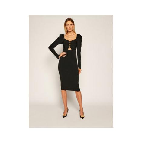 Versace Jeans Couture Úpletové šaty B4HZA803 Čierna Slim Fit