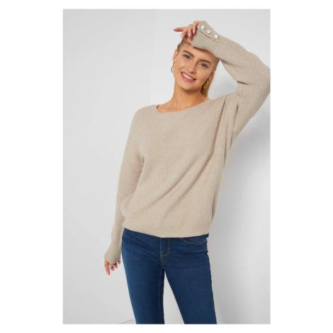 Pruhovaný sveter s gombíkmi Orsay