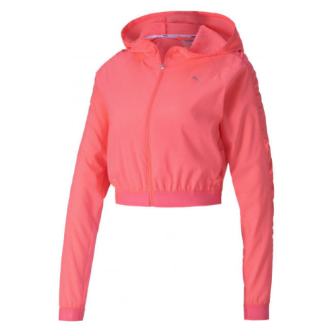 Puma BE BOLD WOVEN JACKET ružová - Dámska športová bunda