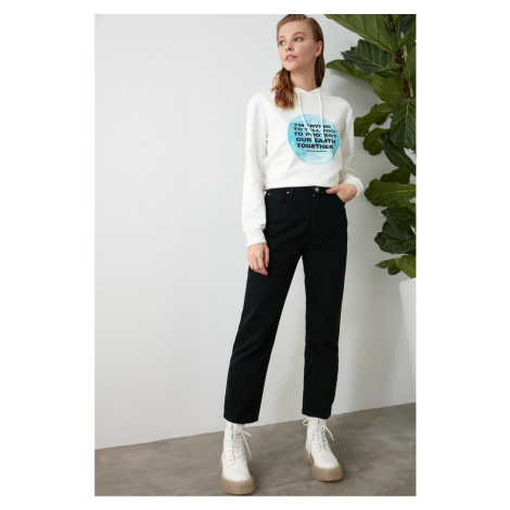 Trendyol Non-Fading Black High Waist Mom Jeans