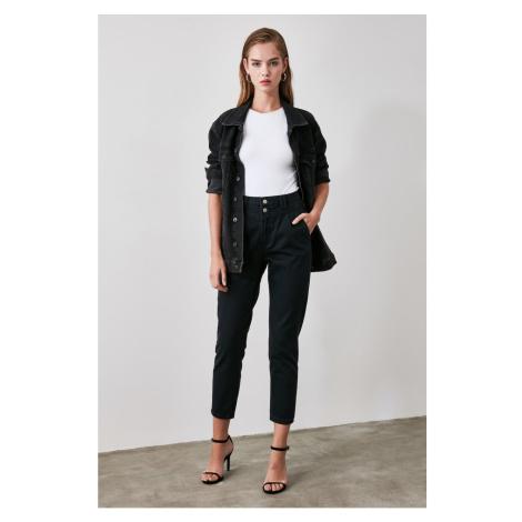 Trendyol Black Battery High Waist Mom Jeans