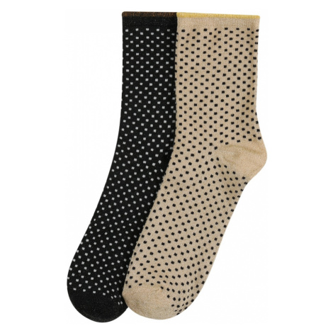 BeckSöndergaard Ponožky 'Dina Small Dots'  piesková / čierna