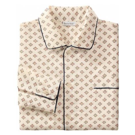 Blancheporte Predĺžený pyžamový kabátik s potlačou béžová