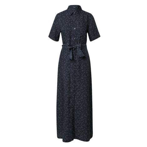 DENHAM Košeľové šaty 'DENISE'  biela / tmavomodrá
