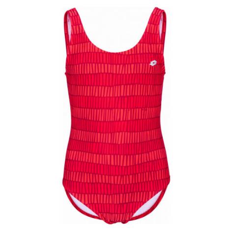 Lotto AZURA červená - Dievčenské jednodielne plavky