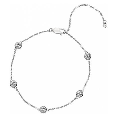 Hot Diamonds Strieborný náramok s topaz a pravým diamantom Willow DL580