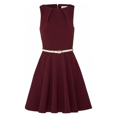 Closet London Kokteilové šaty  krémová / vínovo červená