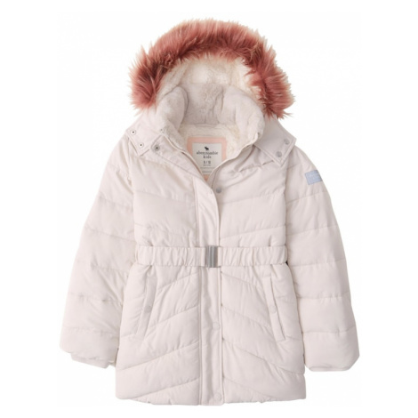 Abercrombie & Fitch Zimná bunda  krémová