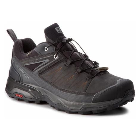 Kožené topánky SALOMON X Ultra 3 LTR Gore-Tex Čierna