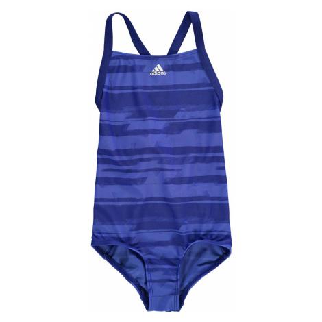 Adidas AOP Swimsuit Junior Girls Mystery Ink