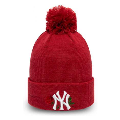New Era MLB WMNS TWINE BOBBLE KNIT NEW YORK YANKEES červená - Dámska zimná klubová čiapka