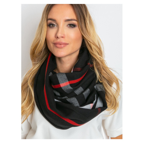 Black scarf with fringes