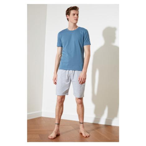 Trendyol Blue Knitted Pyjama Set