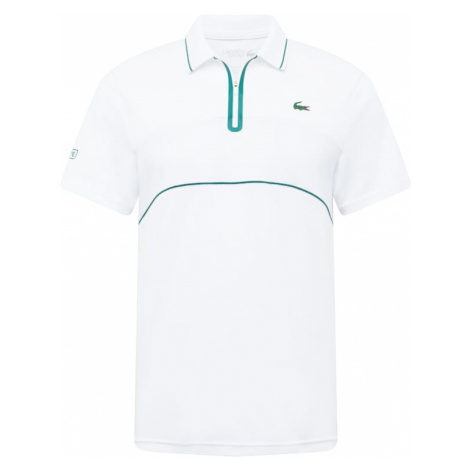 Lacoste Sport Funkčné tričko  biela / petrolejová