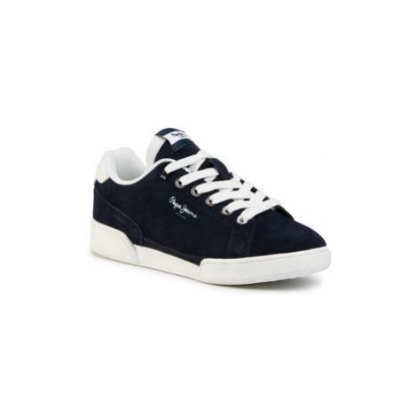 Pepe Jeans Sneakersy Lambert Suede Boys PBS30433 Tmavomodrá