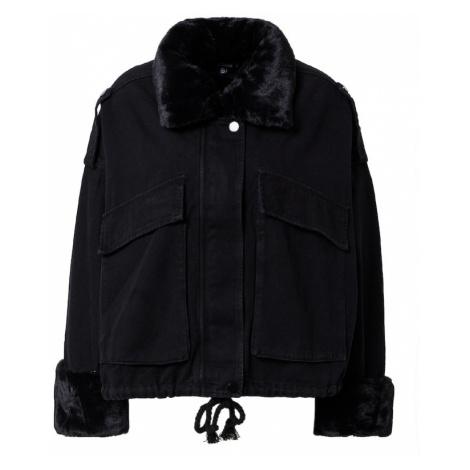 Missguided Prechodná bunda  čierna